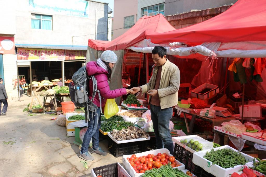 Derniers achats de provisions au marché de Ziyun
